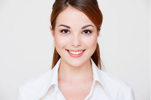 Lady Smiling Serenely | Same Day Smile in Friendly Smiles Center in Mount Laurel, NJ - Dr. Robert Chase